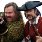 "Mark Summers (""Cap'n Slappy"") and John Baur (""Ol' Chumbucket""), founders of Talk Like a Pirate Day."